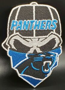 online retailer 63d09 591f0 Details about Carolina Panthers~Iron On Skull with Bandana Patch~Free  Shipping from the USA~