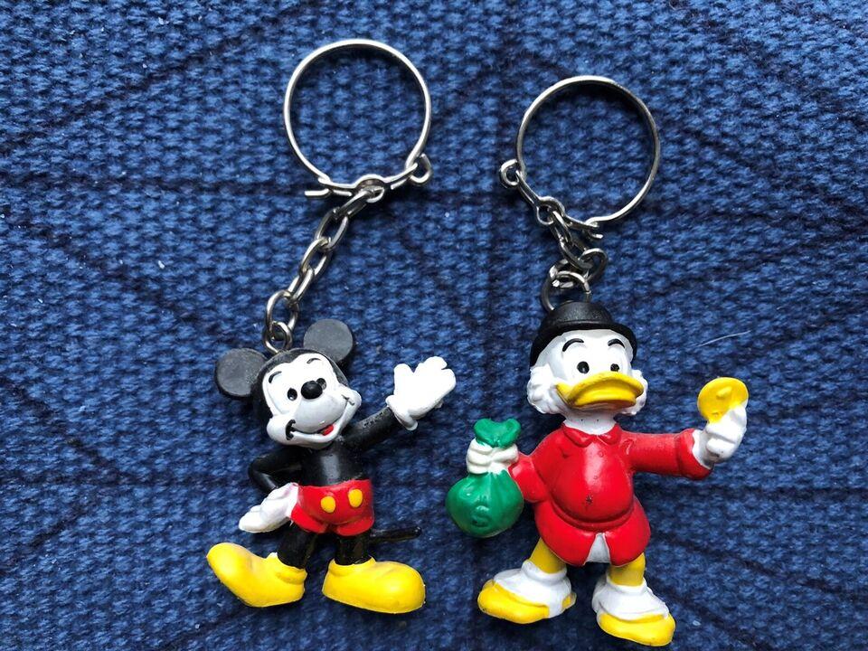 Nøgleringe, Disney Michey Mouse og Joakim Von And