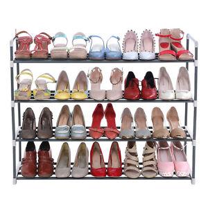 Schuhregal-Schuhschrank-Schuhstaender-Standregal-fuer-bis-zu-20-Schuhe-Grau-LSA14G
