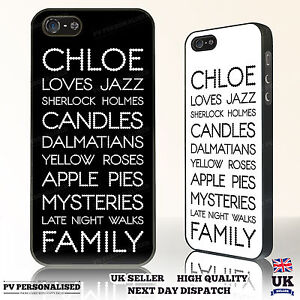 personalised custom printed phone case text your name loves phone