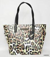 $195 Diane Von Furstenberg Ready To Go Pocket Tote Shopper Bag Leopard
