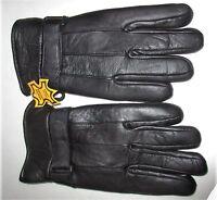 Men's Leather Gloves By Echt Leder With Adjustable Strap Xl