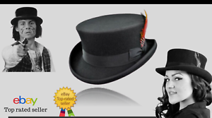 Junior-Top-Hat-DeadMan-Top-Hat-Classic-100-Wool-Hand-Made-Steampunk-style-HAT