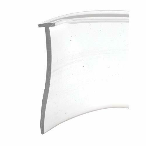 "Clear Vinyl Shower Door Bottom Water Seal 36/"" Replacement Sweep T-Shaped Insert"