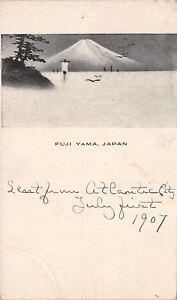 Honahu-Island-Fuji-Yama-Japan-Japanese-Artwork-c1906-Postcard