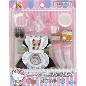 f1e22560b LICCA DOLL DRESS CLOTHES HELLO KITTY Sweets Cafe x SANRIO 1/6 9inch ...