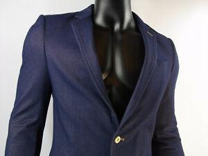 ba8f0b835b335c Das Bild wird geladen Herren-Sakko-Maenner-Sakko-von-Montego-Jeans-Blau-