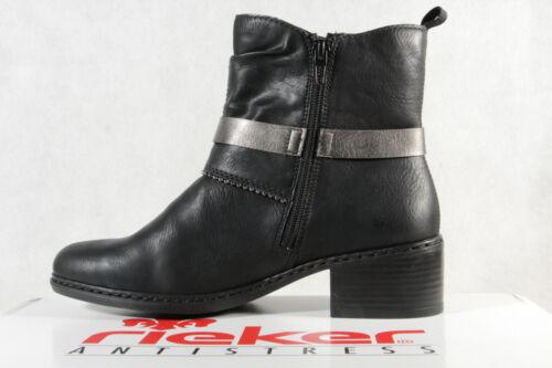 Rieker Damen Stiefel Stiefeletten Schnürstiefel schwarz 77679 NEU!