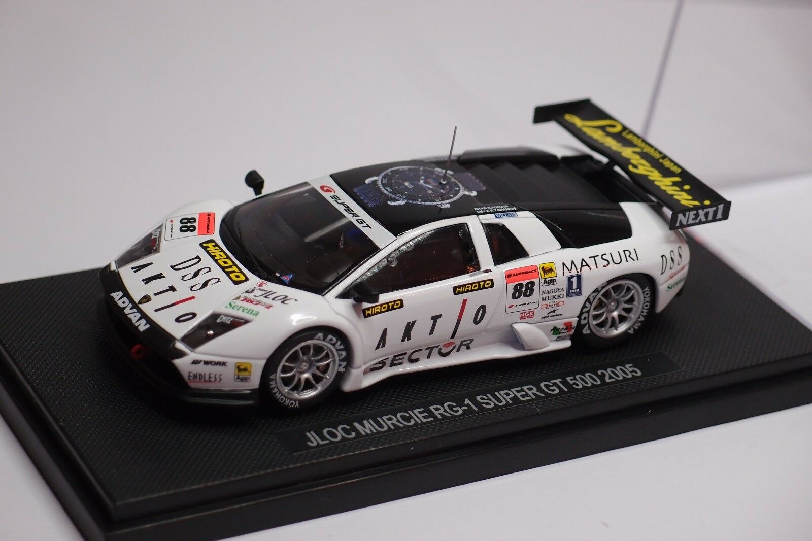 EBBRO LAMBORGHINI JLOC MURCIE RG-1  88 88 88 SUPER GT500 2005 1 43 c05b7a