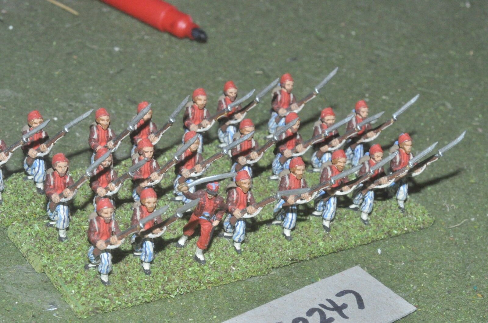25mm ACW   confederate confederate confederate - regt. 23 figures - inf (32247) 23a34b