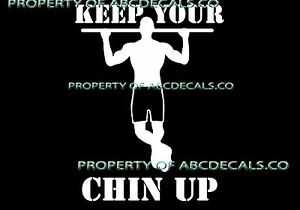 Details about  /VRS Work out Cross Fit Weight Train CHIN UP PULL Girl CAR DECAL METAL STICKER