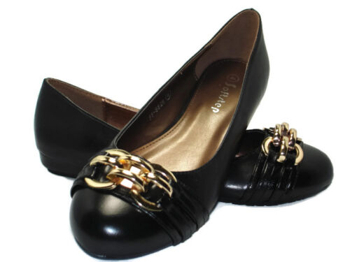 Black Ballerina Pumps Shoes Ballet Casual Loafers Women Ladies Size UK NEW F8826