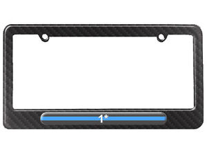 Thin-Blue-Line-1-One-Asterisk-Police-License-Plate-Frame-Carbon-Fiber