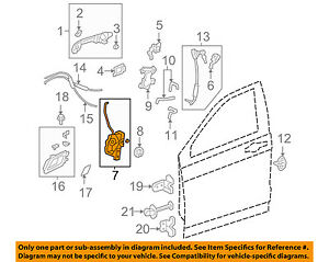Honda Oem 07 11 Cr V Front Door Lock Actuator Motor 72110swad01 Ebay