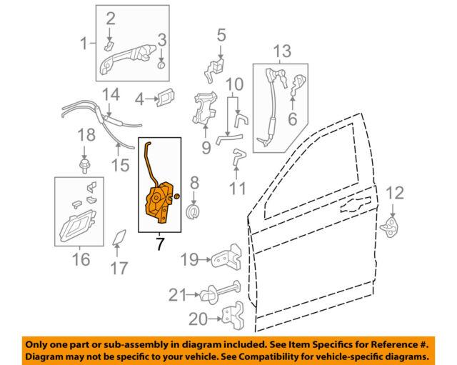 Door Lock Actuator New Rear Right Hand Passenger Side RH for Honda CR-V 07-11