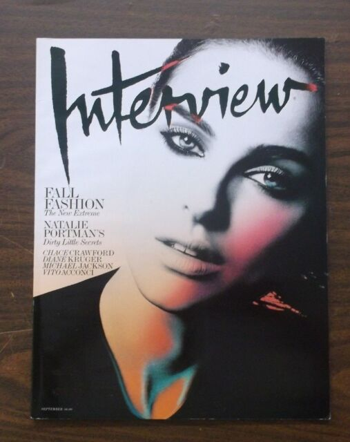 INTERVIEW MAGAZINE SEPTEMBER 2009 NATALIE PORTMAN  STAR WARS MICHAEL JACKSON