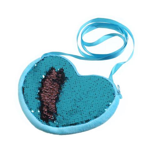 Cute Girls Sequins Coin Bag Wallet Mermaid Fish Tail Children Zipper Coin Purses