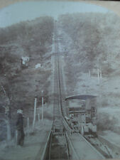 PHOTO STEREO KEYSTONE VIEW USA SWICH BACK RAILROAD MAUCH CHUNK PA MONTAGNE RUSSE