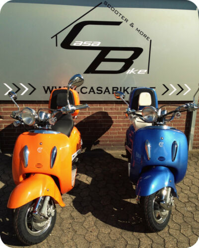 1 x Rückspiegel rechts M8 Spiegel schwar Roller Retro Motorroller Scooter ZNEN