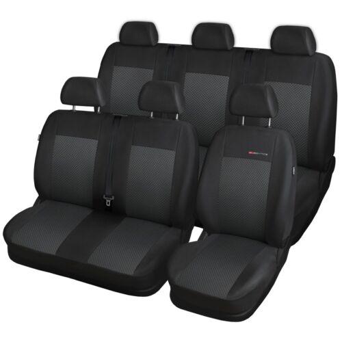 Fiat Scudo II 8-escaños 2007-2016 maßgefertigt medida fundas para asientos funda del asiento Velour