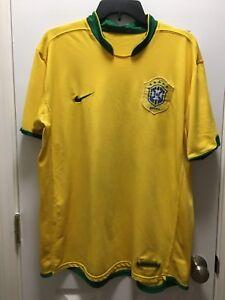 82055c7b7 Vintage NIKE BRASIL Brazil CBF SOCCER FUTEBOL JERSEY Men's XL Sphere ...