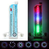 Flash 16 LED Reifen Fahrrad Rad Licht Lampe Ventilkappe Ventil Leucht OVP
