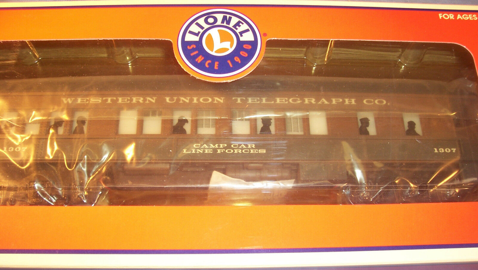 Lionel LRRC Western Union Baby Madison Illuminated Passenger Camp Car 6-19994