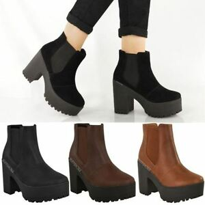 Without Show Kolbig Heel Underwired Size Details Boots Womens Chelsea Block Title Platform About Original Ankle XOPiTZku