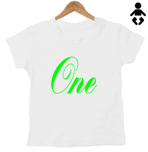 1 Birthday T-Shirt One Childs Personalised Number three 4 two 3 5 Baby 2