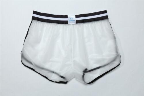 Homme See Through Boxer short gay sport Beachwear Transparent Swim Trunks