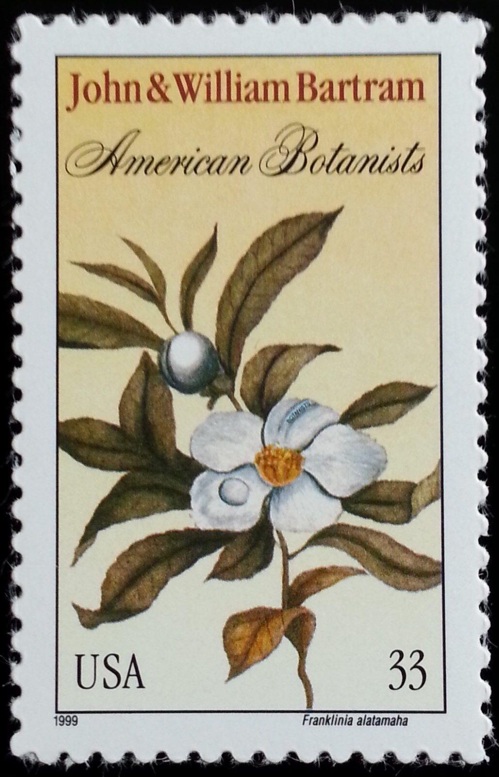 1999 33c John & William Bartram, Botanists Scott 3314 M