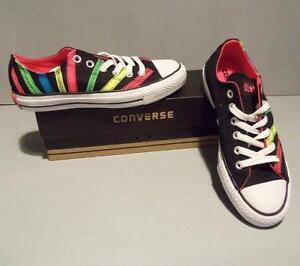 Converse Chuck Taylor CT Women's Ox Ribbon Applique Shoes SIZES NIB Black 531739