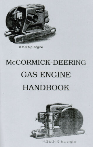 International McCormick Deering Type M Gas Engine Motor Handbook Hit Miss 1.5hp
