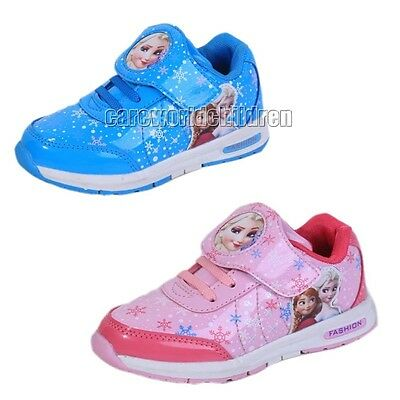 Girls Kids Elsa Princess Casual  Sneakers Shoes Sports Trainers Christmas Gift