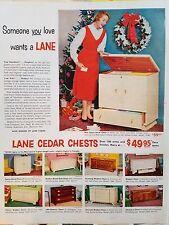 1954 Lane Cedar Chest Space Saver Classic Modern Blond Oak Unusual Attractive Ad