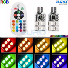 RGB 16Color-change LED T10 168 194 2825 12SMD Map/Dome Interior Lights w/Remote