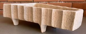 Nice Vintage Ikebana Ceramic Stoneware Pottery Footed Planter Mid Century Modern