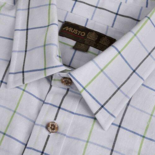 Musto Classic Twill Shirt-Wimborne Vert