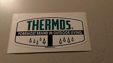 Thermos formost brand outdoor living decal turquoise black and white