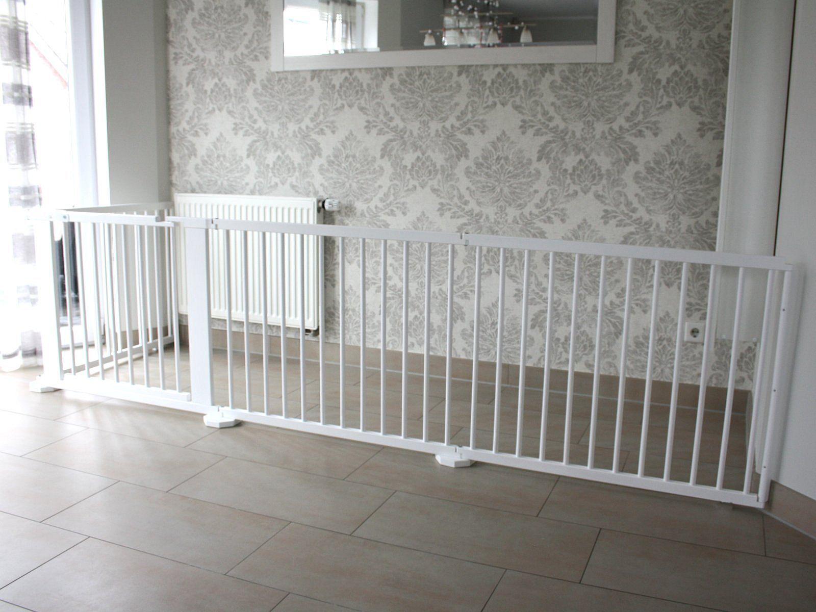 Griglia di protezione transenne türgitter scale griglia di protezione 368 cm massiccio Bianco