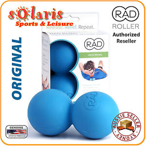 rad roller original blue self massage ball physio trigger. Black Bedroom Furniture Sets. Home Design Ideas