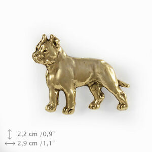 Cane Corso (body), gold covered pin, high qauality Art Dog CA - Zary, Polska - Cane Corso (body), gold covered pin, high qauality Art Dog CA - Zary, Polska