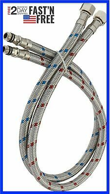 32 Inch Hose Kitchen Sink Faucet Supply Lines Female Connector X M10 Male 696582672539 Ebay