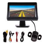 """4.3"""" TFT LCD Car Rear View Backup Monitor + Parking Mirror Night Vision Camera"""