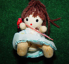 Vintage Artist Made Miniature Wooden Doll Toy