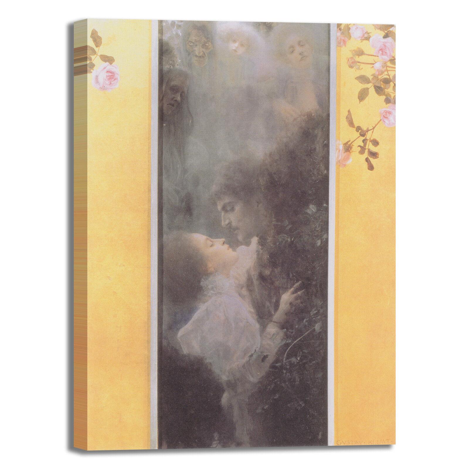 Gustav Klimt l'amore design quadro stampa tela dipinto telaio arroto casa