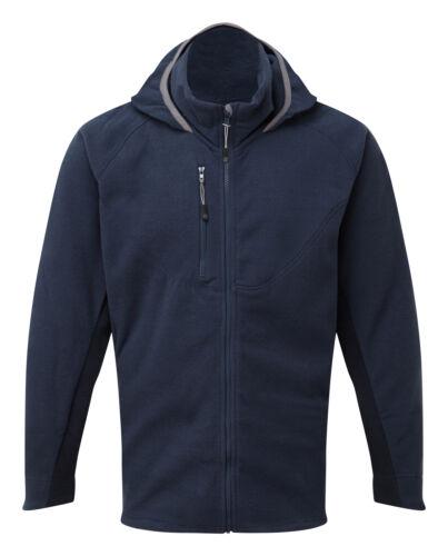 Tuffstuff Hoxne Full Zip Fleece Work Jumper Navy Sizes S-XXL