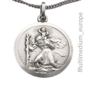 Hl-St-Heiliger-Christopherus-Silber-Anhanger-Schutz-silver-pendant