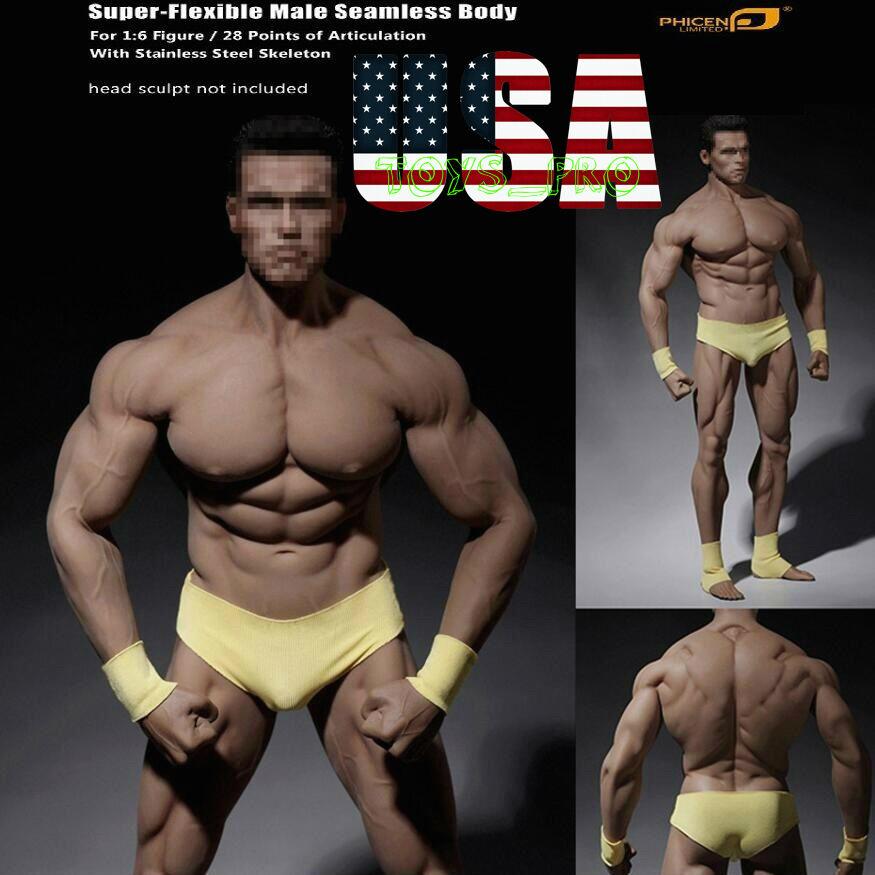 1 6 Tbleague PHICEN PL2016-M34 flexible sin costuras Masculino súper Muscular Cuerpo ❶ USA ❶