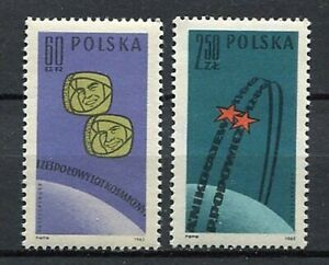 35697) Poland 1962 MNH 1st Russian Group Space